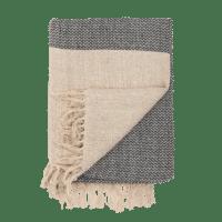 Bloomingville - Decke – Dunkelgrau - aus recyclter Baumwolle