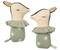 MAILEG - Maileg Bambi Rassel – Sleepy/Wakey Dusty Mint