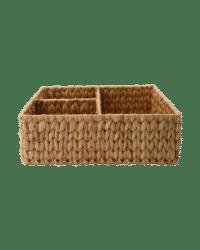 - Kleiner Aufbewahrungskorb – Natur - aus handgeflochtener Wasserhyazinthe