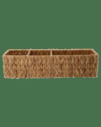 - Aufbewahrungskorb – Natur - aus handgeflochtener Wasserhyazinthe