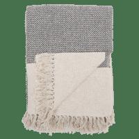 Bloomingville - Decke – Grau - aus recyclter Baumwolle