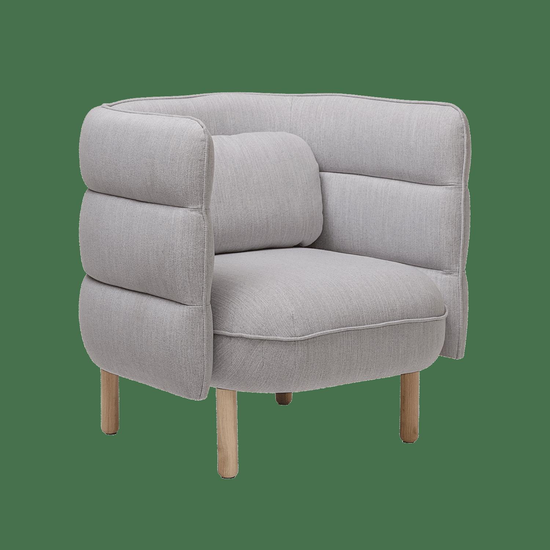 Bloomingville - Bloomingville – Ellen Lounge-Sessel, Grau - L84xH80xW75 cm