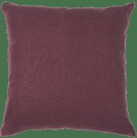 IB-LAURSEN - IB Laursen – Kissenhülle, Aubergine - aus 100% Leinen, 50x50cm