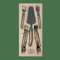 - Kuchenbesteck Set – Ivory - 6 Gabeln & 1 Tortenheber