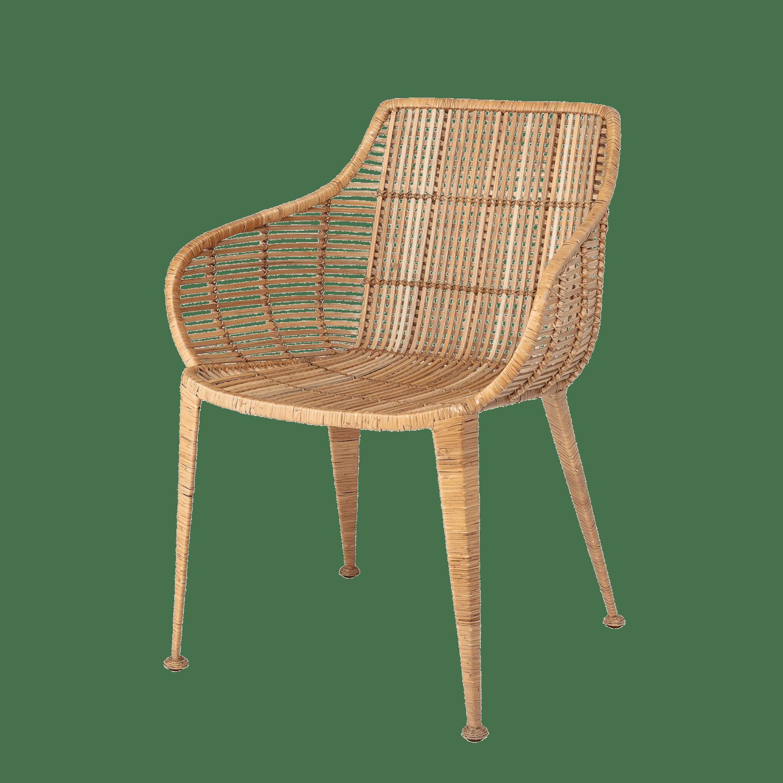 Bloomingville - Bloomingville – Amira Rattanstuhl, Natur - L60xH80xW59 cm
