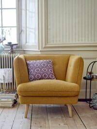 Bloomingville - Bloomingville – Elliot Lounge Sessel, Ocker - L95xH80xW90 cm