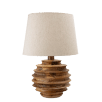 Bloomingville - Bloomingville – Svale Tischlampe, Natur - D38,5xH54 cm