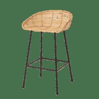 Bloomingville - Bloomingville – Tabitta Barstuhl, Rattan - L48,5xH81,5xW48,5 cm