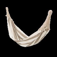Bloomingville - Bloomingville Hängematte, gestreift - aus Baumwolle in Beige/ Grau