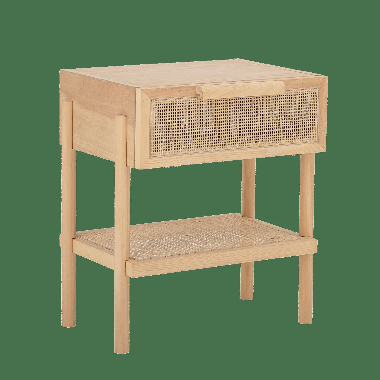 Bloomingville - Bloomingville – Manon Beistelltisch, Natur mit Rattan - L49xH54xW35,66 cm