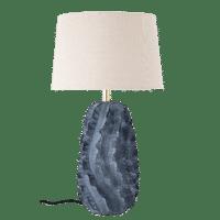 Bloomingville - Bloomingville – Natika Tischlampe, Blau aus Terrakotta - D38xH67 cm