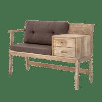 Bloomingville - Bloomingville – Anya Sitzbank, Natur aus Mangoholz - L120xH79xW44 cm