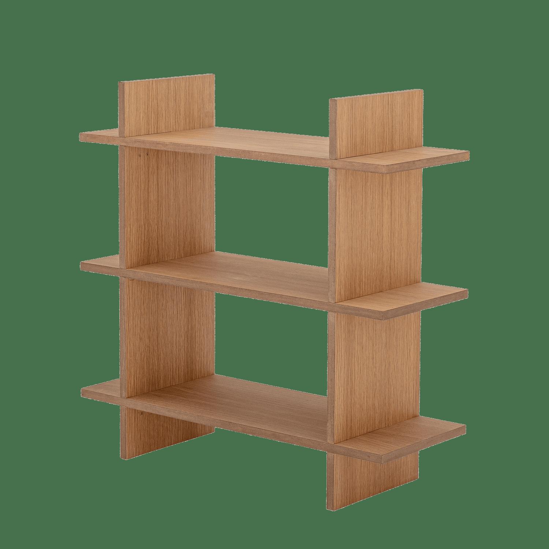 Bloomingville - Bloomingville – Gitt Bücherregal, Natur - L70xH70xW25 cm