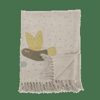 Bloomingville - Bloomingville – Alois Kindertagesdecke mit Vögeln, recyclte Baumwolle - L100xB80 cm