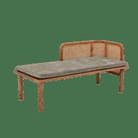 Bloomingville - Bloomingville – Felucca Sitzbank mit Lehne, Grün aus Teakholz - L153xH70,5xW69 cm