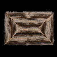 Bloomingville - Bloomingville Türmatte, Schwarz - Fußmatte aus Jute
