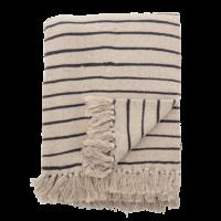 Bloomingville - Bloomingville Decke, Gestreift - aus recycelter Baumwolle