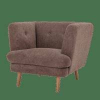 Bloomingville - Bloomingville – Elliot Lounge Sessel, Braun - L95xH80xW90 cm