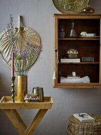 Bloomingville - Bloomingville – Adlene Serviertisch, Natur - L45xH60xW30 cm