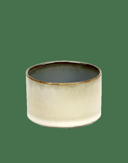 ANITA LE GRELLE - SERAX - ANITA LE GRELLE –  Becher Zylinder Niedrig, Misty Grey/Smokey Blue - D7,5 x H7,5 CM