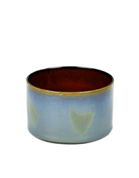 ANITA LE GRELLE - SERAX - ANITA LE GRELLE –  Becher Zylinder Niedrig, Smokey Blue/Rust - D7,5 x H7,5 CM