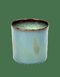 ANITA LE GRELLE - SERAX - ANITA LE GRELLE –  Becher Zylinder Hoch, Smokey Blue/Misty Grey - D7,5 x H7,5 CM
