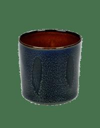 ANITA LE GRELLE - SERAX - ANITA LE GRELLE –  Becher Zylinder Hoch, Dark Blue/Rust - D7,5 x H7,5 CM