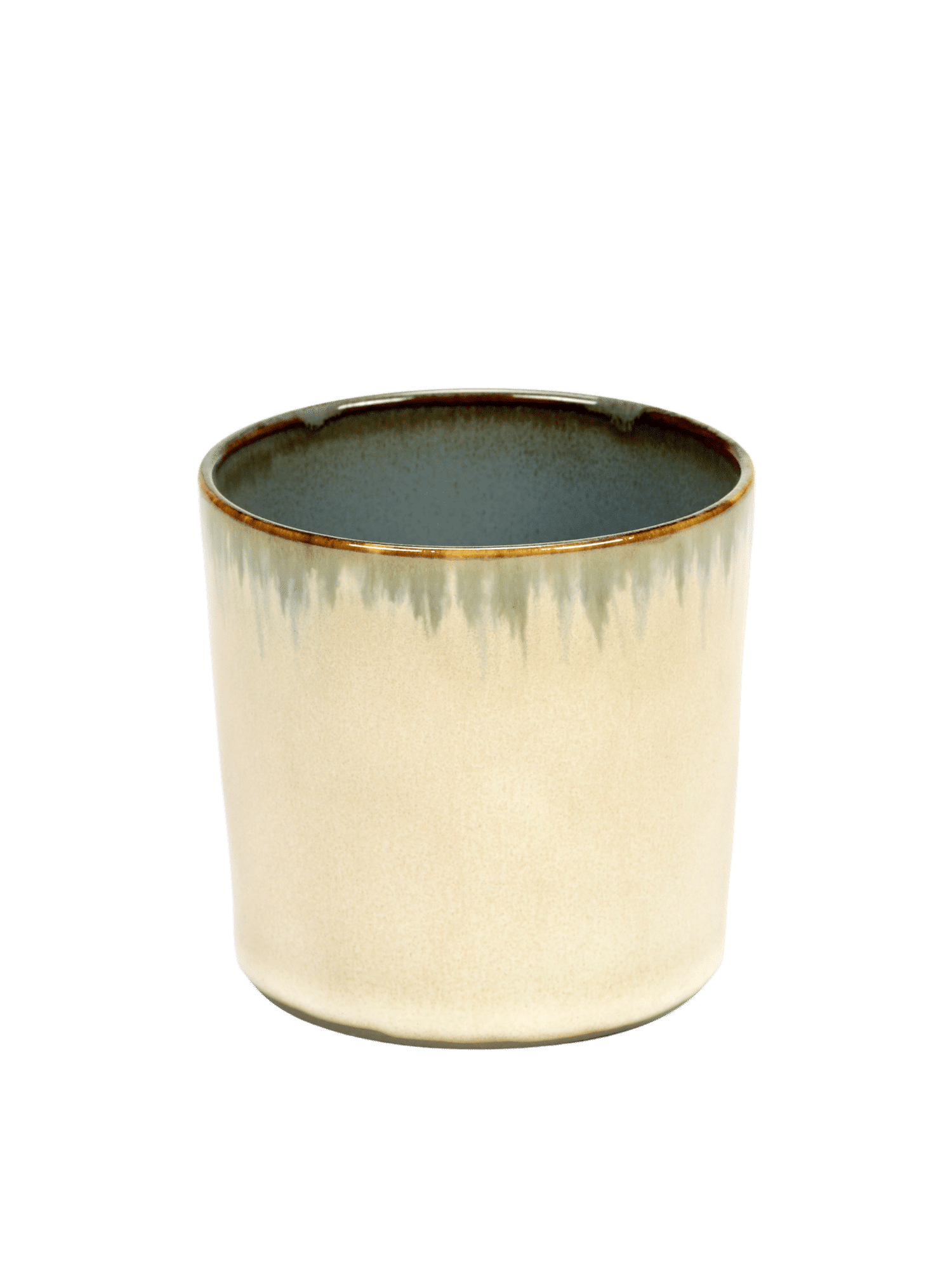 ANITA LE GRELLE - SERAX - ANITA LE GRELLE –  Becher Zylinder Hoch, Misty Grey/Smokey Blue - D7,5 x H7,5 CM
