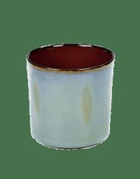 ANITA LE GRELLE - SERAX - ANITA LE GRELLE –  Becher Zylinder Hoch, Smokey Blue/Rust - D7,5 x H7,5 CM