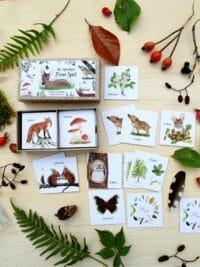 """BRIGITTE BALDRIAN - Memo- Spiel """"Im Wald"""" - 24 handgemalte Kartenpaare"""