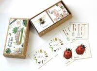 "BRIGITTE BALDRIAN - Memo-Spiel ""Im Naturgarten"" - 24 handgemalte Kartenpaare"