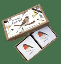 """BRIGITTE BALDRIAN - Memo-Spiel """"Vogelwelt"""" - 24 handgemalte Kartenpaare"""