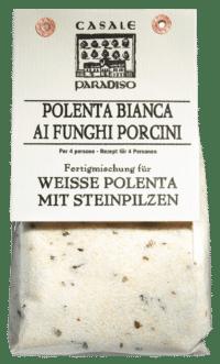 CASALE PARADISO - Polenta bianca ai funghi porcini - Weiße Polenta mit Steinpilzen