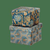 BUNGALOW - Geschenkboxen Leela Midnight – S - 2er Set