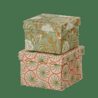 BUNGALOW - Geschenkboxen Leela Moss S - 2er Set
