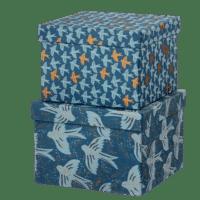 BUNGALOW - Geschenkboxen Matis Midnight – M - 2er Set