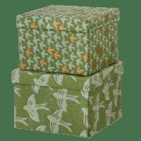 BUNGALOW - Geschenkboxen Matis Moss – M - 2er Set