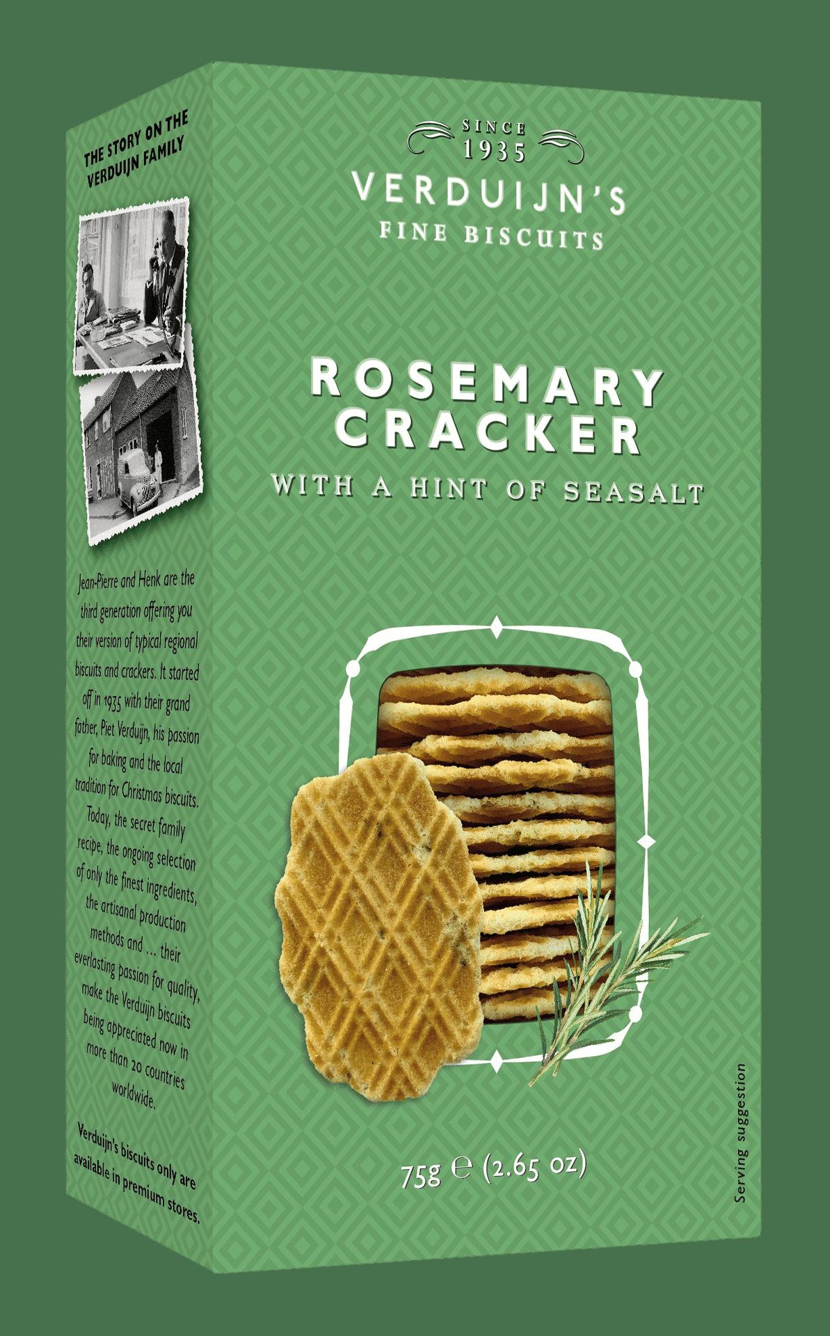 VERDUIJN'S - Rosemary & Seasalt Crackers - Holländische Waffeln mit Rosmarin und Meersalz