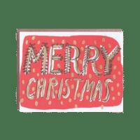 Egg Press - Merry Christmas - Klappkarte mit Kuvert