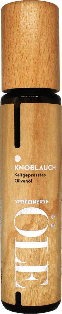GREENOMIC - Greenomic – Kaltgepresstes Olivenöl mit KNOBLAUCH – WOOD DESIGN - kaltgepresst aus Griechenland