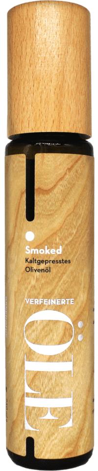 GREENOMIC - Greenomic – Natives Olivenöl extra SMOKED – WOOD DESIGN - kaltgepresst aus Griechenland