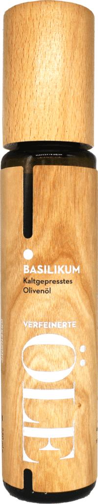 GREENOMIC - Greenomic – Natives Olivenöl extra BASILIKUM – Wood Design - kaltgepresst aus Griechenland