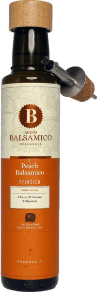 GREENOMIC - Greenomic – Aceto Balsamico mit Pfirsich + Ausgießer - Balsamico-Essig in Premium-Qualität aus Italien