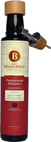 GREENOMIC - Greenomic – Aceto Balsamico mit Granatapfel + Ausgießer - Balsamico-Essig in Premium-Qualität aus Italien