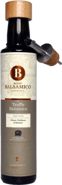 GREENOMIC - Greenomic – Aceto Balsamico mit Trüffel + Ausgießer - Balsamico-Essig in Premium-Qualität aus Italien