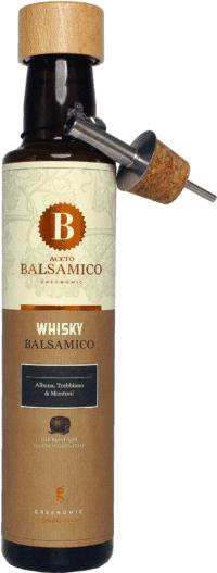 GREENOMIC - Greenomic – Balsamico mit Whisky + Ausgießer - Balsamico-Essig in Premium-Qualität aus Italien