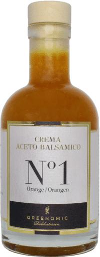 GREENOMIC - Greenomic – Crema Aceto Balsamico mit ORANGEN - Premium Balsamico Creme mit Orangen