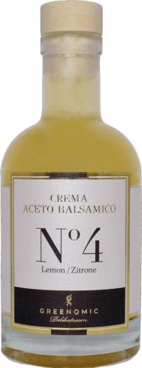 GREENOMIC - Greenomic – Crema Aceto Balsamico mit Zitrone - Premium Balsamico Creme mit Zitrone