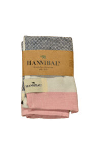 HANNIBALs - HANNIBALs Geschirrtuch – Schwarz/Weiß/Rose - 100% Baumwolle
