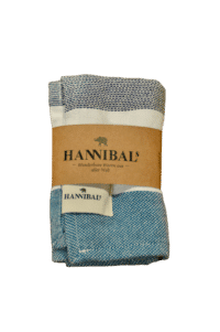 HANNIBALs - HANNIBALs Geschirrtuch – Schwarz/Weiß/Blau - 100% Baumwolle